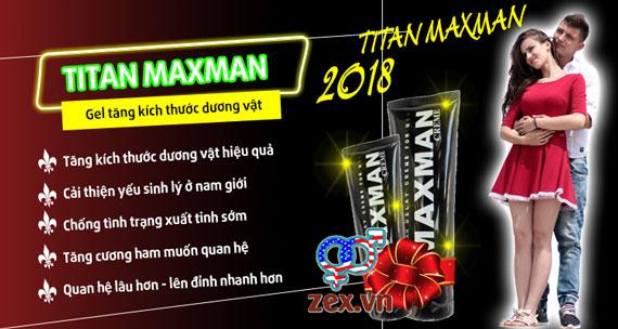 công dụng của gel titan maxman 2